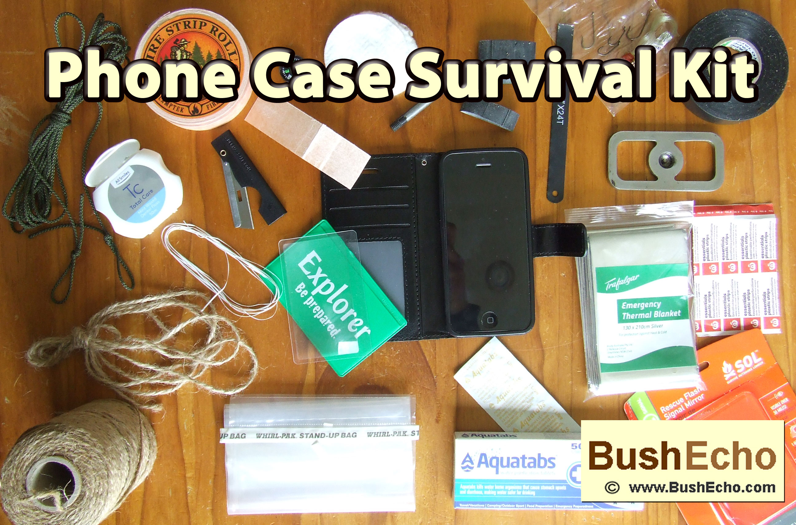 Phone Case Survival Kit Options.