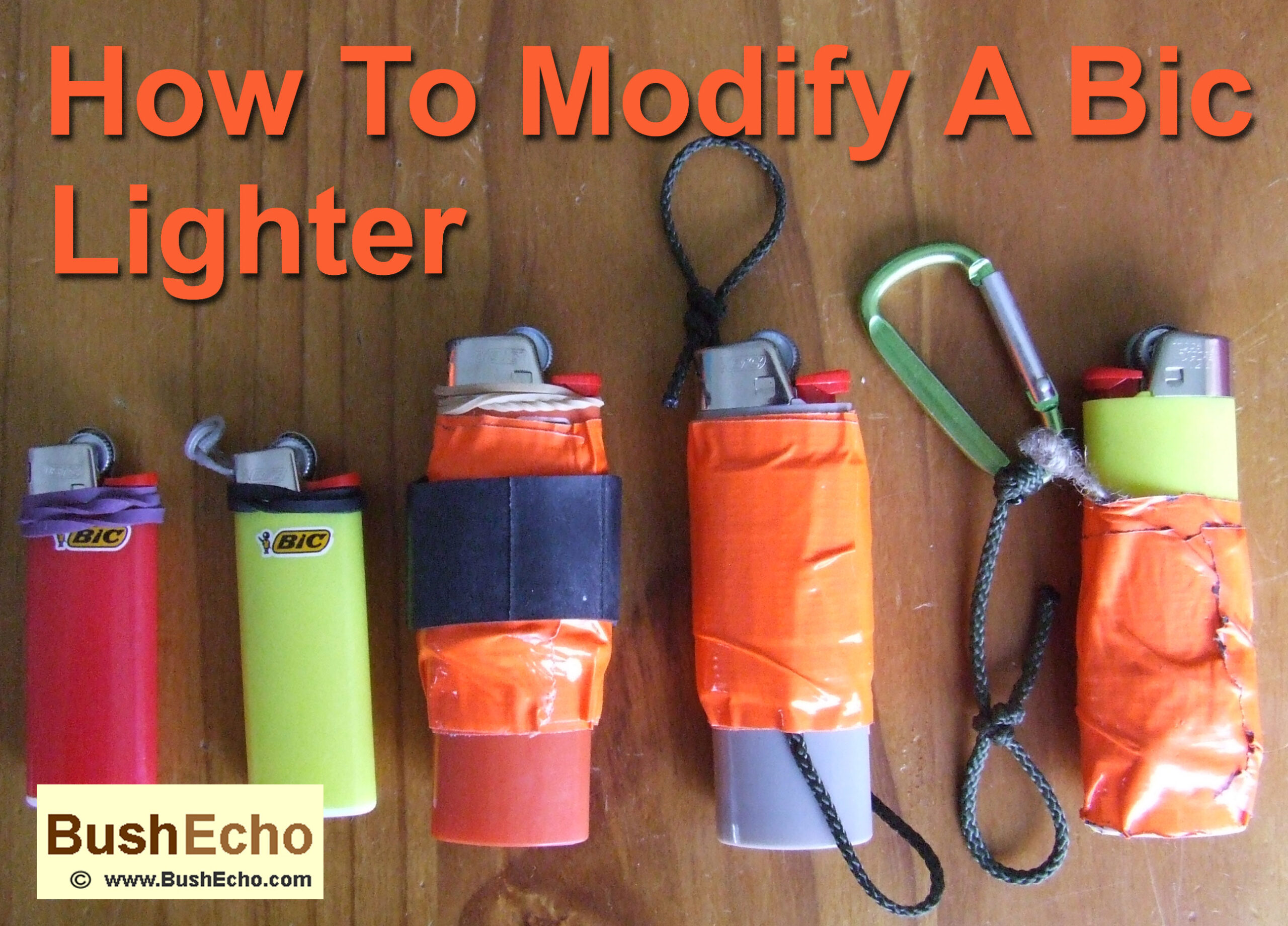 How to modify Bic lighter