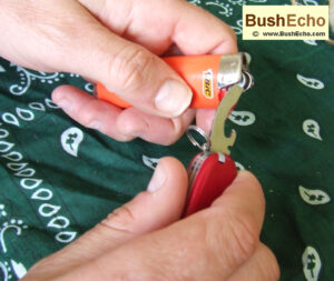 Bushcraft modify Bic lighter