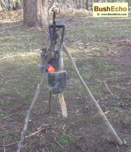 bushcraft tripod rack for camping