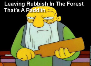 Camping meme That's a Paddlin