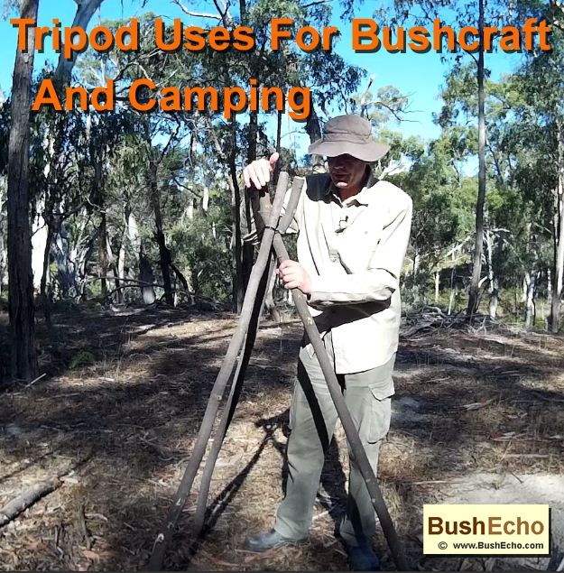 Tripod uses for bushcraft and camping