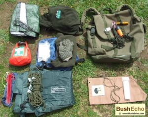 Survival gear backpack layer