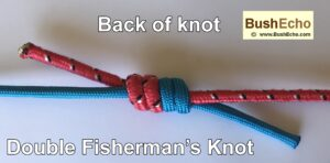 Bushcraft double fishermans knot