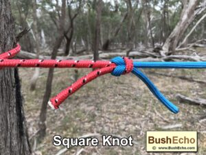 Bushcraft how to tie a square knot
