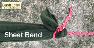 Bushcraft tie sheet bend
