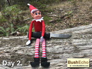 Elf on the shelf with Mora Garberg knife knife