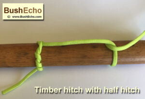 how to tie a timber hitch with half hitch