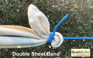 Tie double sheet bend