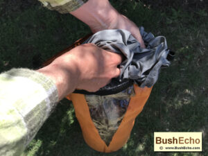 Bushcraft dry bag uses washing