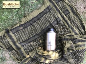 bushcraft shemagh water bottles