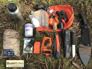 Bushcraft survival kit dry bag