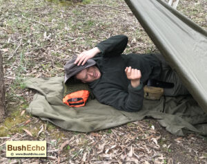 Improvised pillow bushcraft