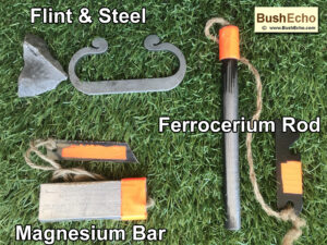 Bushcraft ferro rod mag bar flint steel