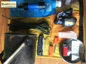 Billy can bushcraft survival kit