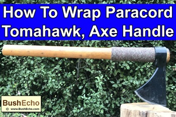 How to wrap tomahawk or axe with paracord.