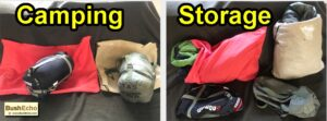 how to store sleeping bag camping