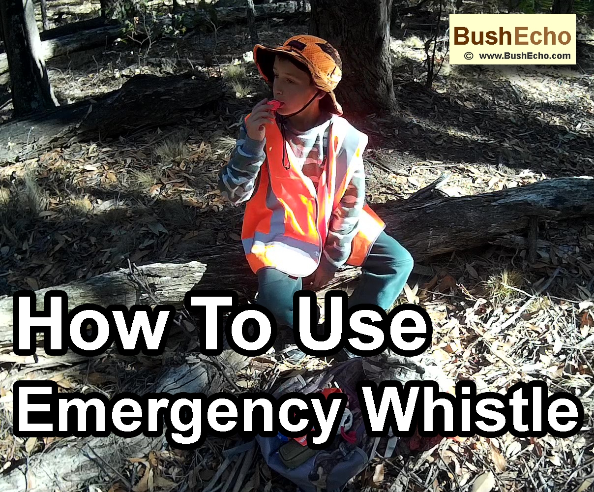 How to use emergency whistle