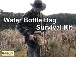 Water Bottle Bag Survival Kit